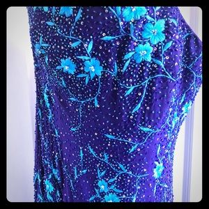 Purple and Blue Gown